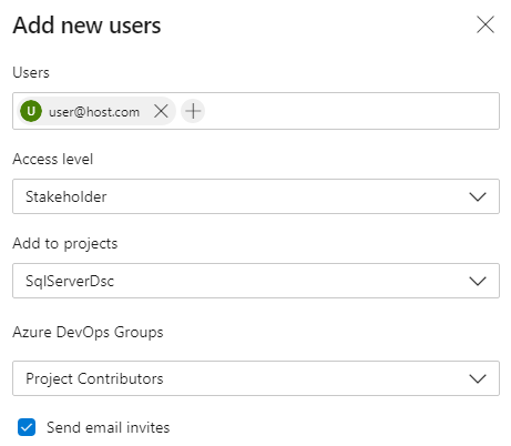 Azure DevOps Organization Add User