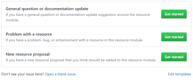 GitHub Choose Issue Template