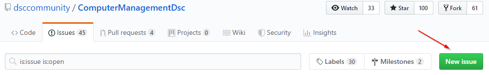 GitHub New Issue Button